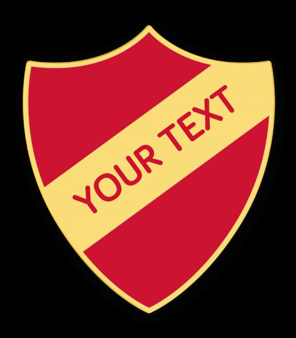 personalised school shield enamel badges made by cooper