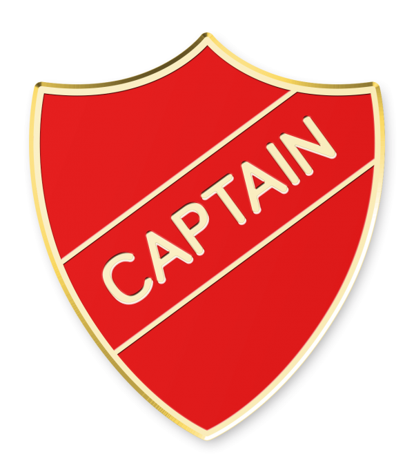 Blue Green Sports Captain Shield School Badges Red Yellow Orange