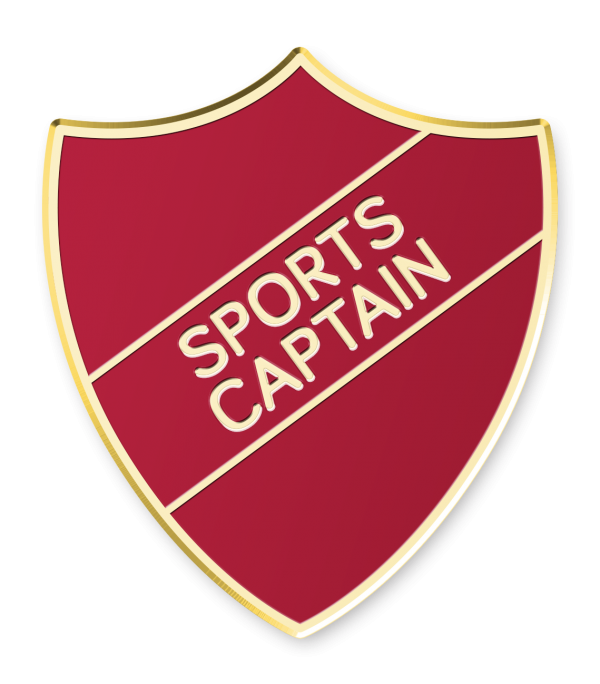 Sports Captain Shield School Enamel Badge