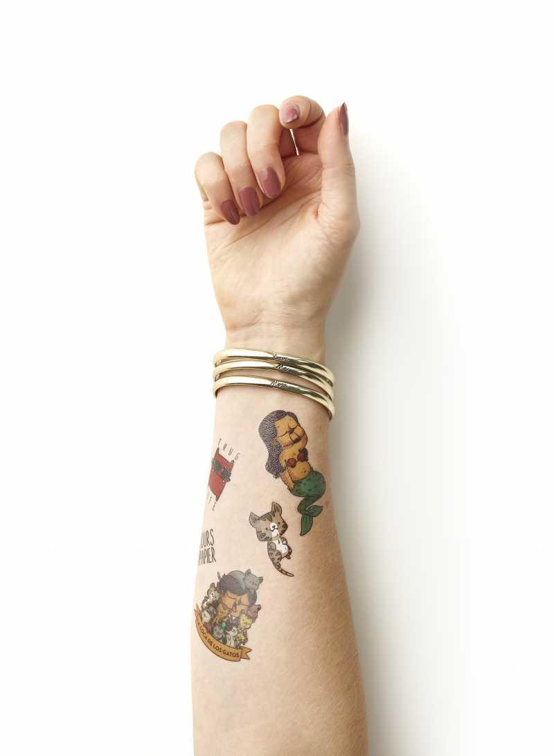 Custom Made Colour Temporary Tattoos Made By Cooper